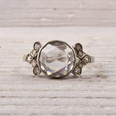 Art Deco carat rose-cut diamond