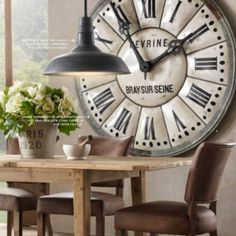 love the oversized clock