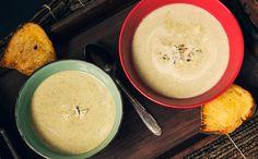 Supa crema de broccoli cu ciuperci si gorgonzola