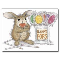 Too cute! The HappyHoppers Bunny Rabbit Postcard