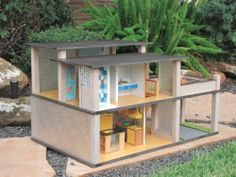 Modern Contemporary Dollhouse OOAK | eBay