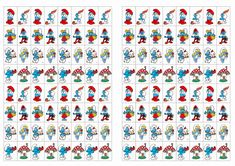 Smurfs Stickers – Birthday Printable