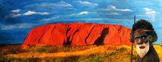 Aboriginal mit Uluru