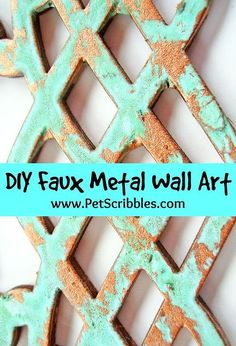 wall art faux metal modern masters, home decor, how to, wall decor