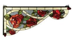 Roses - stained glass window corner