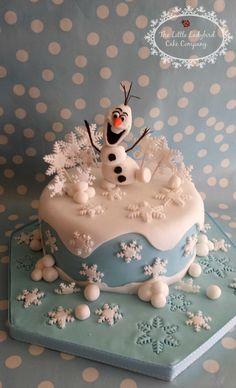 So 'ne supertolle wunderschöne Schneemann-Torte möchte ich auch bekommen.  Aber vernaschen würde ich sie nicht!