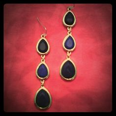 Spotted while shopping on Poshmark: Tear drop trio earrings.! #poshmark #fashion #shopping #style #Jewelry