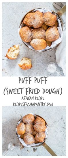 Puff puff aka deep fried dough is a traditional African snack. Sweet, fluffy golden brown Nigerian puff puff recipe. recipesfromapantry.com #puffpuff #africanrecipe #nigerianpuffpuff #africanpuffpuff