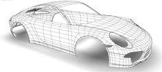 3d Polygon, Polygon Shape, 3ds Max, Polygon Modeling, Modeling Tips, Wireframe, Porsche 356, Vehicles, Maya