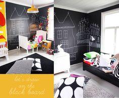 chalkboard in kid's room