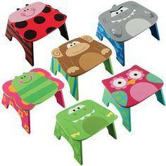 Sillas o stools para niños. Para info: http://www.pomposhboutique.com/ y https://www.facebook.com/PomPoshBoutique