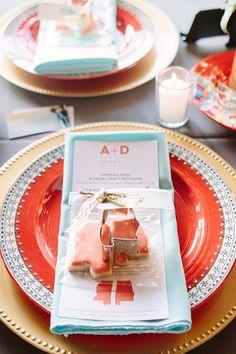 mint + coral table decor | Natalie Elyse