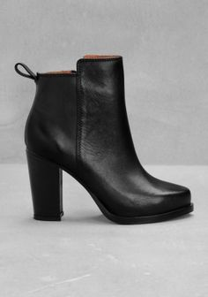 The black leather booties are so versatile. They can pretty much be paired with anything!