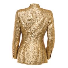 Chanel 24K Gold Jacket 96A MET MUSEUM LESAGE EMBROIDERED VOGUE MEISEL GAGA $10K  #Chanel #Military #Chanel #24KGold #GRIPOIX #CHANEL1996 #METMUSEUM #LESAGE #VOGUE #STEVENMEISEL #LADYGAGA $10K  #CELINEDION