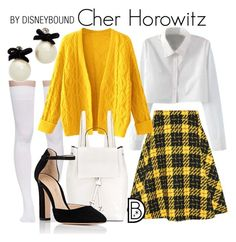 """Cher Horowitz"" by leslieakay ❤ liked on Polyvore featuring Miu Miu, Marieyat, WithChic, French Connection, Gianvito Rossi, Kate Spade, 90s, disneybound and clueless"
