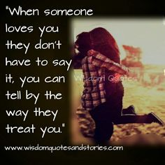 Treating someone right