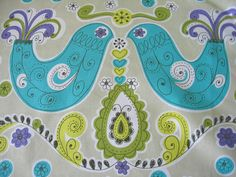2 yards Lime green Decorator Fabric / Japanese by masonscottage. $34.00, via Etsy.