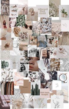 60 pcs Simple Boho Aesthetic Wall Collage Kit