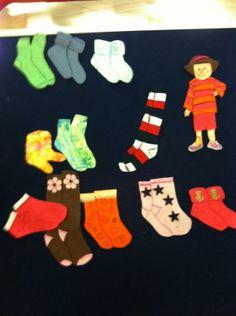 Jenny's Socks flannelboard