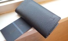 Louis Vuitton Taiga Leather Brazza Wallet M31079 black.real shoot.$125+FREE shipping+on-line payment