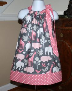 Pillowcase Dress toddler dresses michael miller by BlakeandBailey $19.99 & Beautiful pale pink spot voile hand smocked dress - sizes 3-6 ... pillowsntoast.com