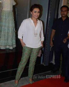 Rani Mukerji at a designer store launch. #Bollywood #Fashion #Style #Beauty