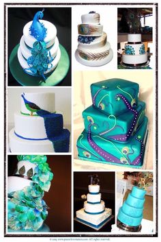peacock wedding cake ideas I am having peacock feathers in my wedding some how some way! Peacock Cake, Peacock Wedding Cake, Peacock Theme, Wedding Cakes, Peacock Colors, Peacock Feathers, Fancy Cakes, Cute Cakes, Pretty Cakes