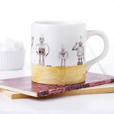 Robot Earthenware Mug