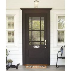 Dramatic Front Door 9 Surprising Ways to Decorate With Black ❤ liked on Polyvore featuring home, home decor and black home decor