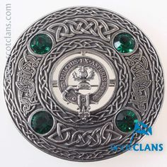 Ferguson Clan Crest Plaid Brooch. Free worldwide shipping available.