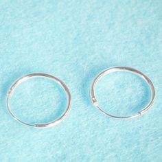 Small Hoop 92.5 Sterling Silver Hinged Hoop Earrings-Cartilage Nose Lip-Silver Round Cartilage Hoop Earrings-Gift under 10-Ex 12 mm-In 10 mm on Etsy, $7.99
