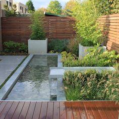 Pond Design, Modern Garden Design, Contemporary Garden, Patio Design, Landscape Design, Modern Water Feature, Outdoor Water Features, Outdoor Privacy, Outdoor Areas