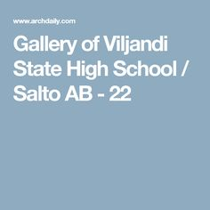 Gallery of Viljandi State High School / Salto AB - 22