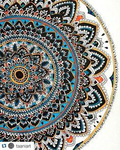 #Repost @taaniart Repost my  big  mandala   #mandala #mandalala #heymandalas #doodles #doodling #zentangle #zentangleart #art #draw by mandalaslovers