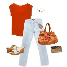 """""""Red and Ready"""" by #bulletblues on Polyvore www.bulletbluesca.com #madeinUSA"""