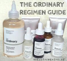 The Ordinary Skincare Regimen Guide : How to use The Ordinary products, and how to build a skincare regimen for acne prone skin.