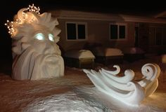 Wind Chill at night. It was done by Team Snow Art in Saskatoon, SK.