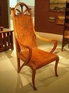 Art Nouveau - Chaise Fauteuil - Louis Majorelle - 1900