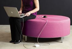 Powered ottoman from Sparkeology. Student association, good for games room