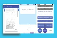 10 Material Design iOS components for OSX and iOS development