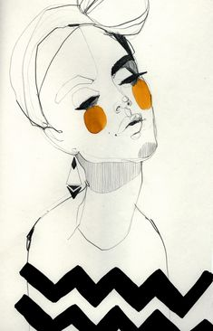 Fashion illustration - beautifully chic, fashion drawing // Ekaterina Koroleva