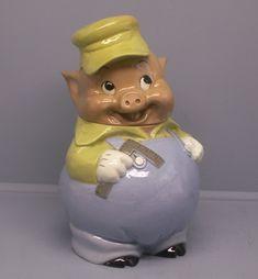 Practical Pig Disney Cookie Jar in 1967 test colors rare