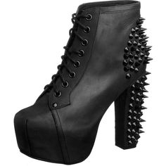Jeffrey Campbell LITA SPIKE - High heeled ankle boots - black for with free delivery at Zalando Black Lace Up Boots, Short Black Boots, Black Heel Boots, Lace Up Ankle Boots, Lace Up Heels, Black Shoes, Heeled Boots, Shoe Boots, Ankle Booties