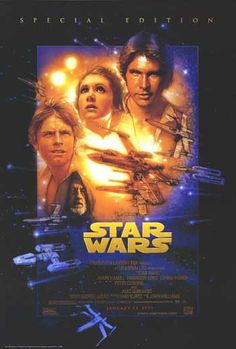 I have this Star Wars movie poster framed and hanging in my family room.