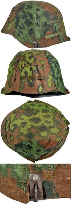 "SECOND PATTERN, WAFFEN-SS OAK-LEAF ""A"" CAMOUFLAGE HELMET COVER. (Stahlhelmbezüge)  Check out more original WW2 items: http://www.vantiques.nl"