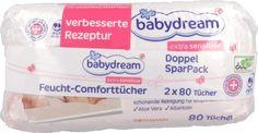 babydream, Extra Sensitive, delikatne chusteczki nawilżające, 2x80 szt., nr kat. 121077