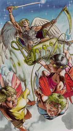 Knight of Swords, Initiatory Tarot of the Golden Dawn IGD- Schwerter 12 - Prinz