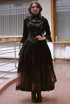 Petra Éliarosa - Porcelain Doll Skirt, Classy Lady Bolero, Punk Rave Skirt, Retroscope Fashions Blouse - Gothic Witch