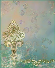 bubbles and glitter background gold and teal