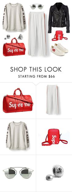 """534 - Did Anyone Say Red?"" by caroline-mathilde ❤ liked on Polyvore featuring Louis Vuitton, Naoki, Converse and Christian Dior"